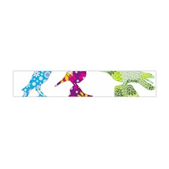 Birds Colorful Floral Funky Flano Scarf (mini) by Amaryn4rt