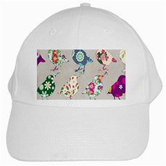 Birds Floral Pattern Wallpaper White Cap by Amaryn4rt