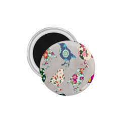 Birds Floral Pattern Wallpaper 1 75  Magnets by Amaryn4rt