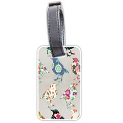Birds Floral Pattern Wallpaper Luggage Tags (one Side)  by Amaryn4rt