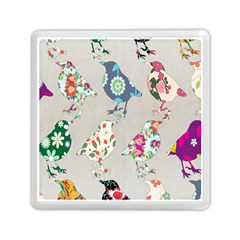 Birds Floral Pattern Wallpaper Memory Card Reader (square)  by Amaryn4rt