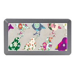 Birds Floral Pattern Wallpaper Memory Card Reader (mini) by Amaryn4rt
