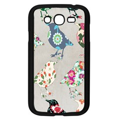 Birds Floral Pattern Wallpaper Samsung Galaxy Grand Duos I9082 Case (black) by Amaryn4rt