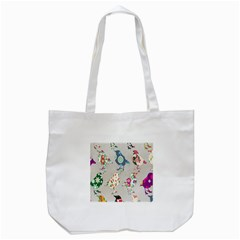 Birds Floral Pattern Wallpaper Tote Bag (white) by Amaryn4rt
