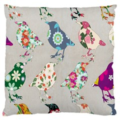 Birds Floral Pattern Wallpaper Standard Flano Cushion Case (one Side) by Amaryn4rt
