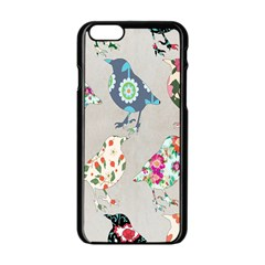 Birds Floral Pattern Wallpaper Apple Iphone 6/6s Black Enamel Case by Amaryn4rt
