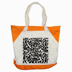 Black And White Leopard Skin Accent Tote Bag by Amaryn4rt