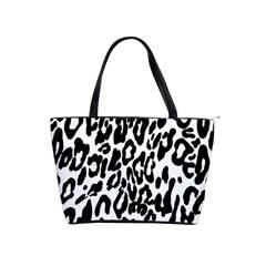 Black And White Leopard Skin Shoulder Handbags by Amaryn4rt