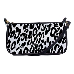 Black And White Leopard Skin Shoulder Clutch Bags by Amaryn4rt