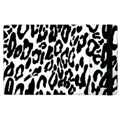 Black And White Leopard Skin Apple Ipad 3/4 Flip Case by Amaryn4rt