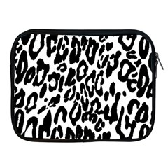 Black And White Leopard Skin Apple Ipad 2/3/4 Zipper Cases by Amaryn4rt