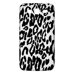 Black And White Leopard Skin Samsung Galaxy Mega 5 8 I9152 Hardshell Case  by Amaryn4rt