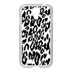 Black And White Leopard Skin Samsung Galaxy S4 I9500/ I9505 Case (white) by Amaryn4rt