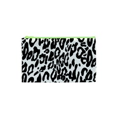 Black And White Leopard Skin Cosmetic Bag (xs) by Amaryn4rt
