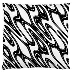 Black And White Wave Abstract Standard Flano Cushion Case (one Side) by Amaryn4rt