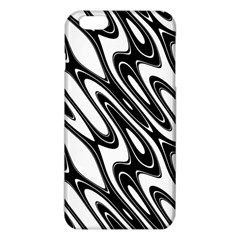 Black And White Wave Abstract Iphone 6 Plus/6s Plus Tpu Case by Amaryn4rt