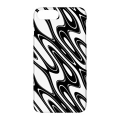 Black And White Wave Abstract Apple Iphone 7 Plus Hardshell Case by Amaryn4rt
