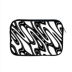 Black And White Wave Abstract Apple Macbook Pro 15  Zipper Case by Amaryn4rt