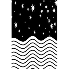 Black And White Waves And Stars Abstract Backdrop Clipart 5 5  X 8 5  Notebooks by Amaryn4rt