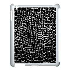Black White Crocodile Background Apple Ipad 3/4 Case (white) by Amaryn4rt