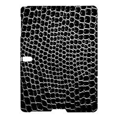 Black White Crocodile Background Samsung Galaxy Tab S (10 5 ) Hardshell Case  by Amaryn4rt