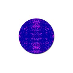 Blue And Pink Pixel Pattern Golf Ball Marker by Amaryn4rt