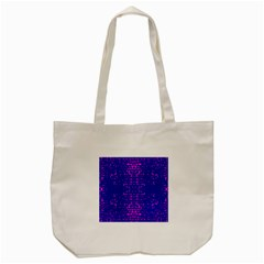 Blue And Pink Pixel Pattern Tote Bag (cream) by Amaryn4rt