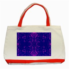 Blue And Pink Pixel Pattern Classic Tote Bag (red) by Amaryn4rt