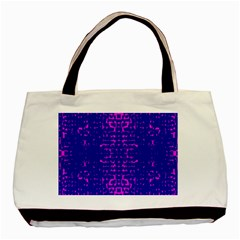 Blue And Pink Pixel Pattern Basic Tote Bag (two Sides) by Amaryn4rt