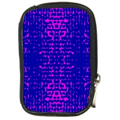 Blue And Pink Pixel Pattern Compact Camera Cases by Amaryn4rt