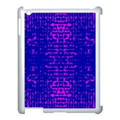 Blue And Pink Pixel Pattern Apple Ipad 3/4 Case (white) by Amaryn4rt
