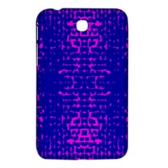 Blue And Pink Pixel Pattern Samsung Galaxy Tab 3 (7 ) P3200 Hardshell Case  by Amaryn4rt