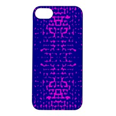 Blue And Pink Pixel Pattern Apple Iphone 5s/ Se Hardshell Case by Amaryn4rt