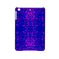 Blue And Pink Pixel Pattern Ipad Mini 2 Hardshell Cases by Amaryn4rt