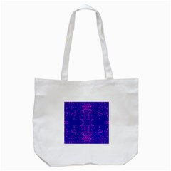 Blue And Pink Pixel Pattern Tote Bag (white) by Amaryn4rt