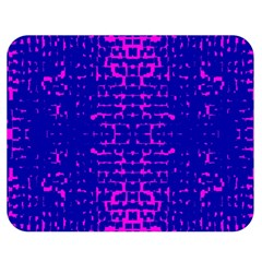 Blue And Pink Pixel Pattern Double Sided Flano Blanket (medium)  by Amaryn4rt