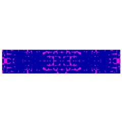 Blue And Pink Pixel Pattern Flano Scarf (small) by Amaryn4rt