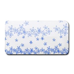 Blue And White Floral Background Medium Bar Mats by Amaryn4rt
