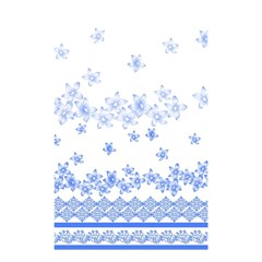 Blue And White Floral Background Shower Curtain 48  X 72  (small)  by Amaryn4rt