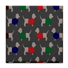 Cute Dachshund Dogs Wearing Jumpers Wallpaper Pattern Background Face Towel by Amaryn4rt