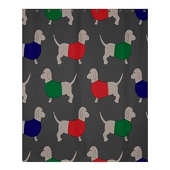 Cute Dachshund Dogs Wearing Jumpers Wallpaper Pattern Background Shower Curtain 60  X 72  (medium)  by Amaryn4rt