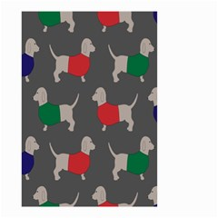 Cute Dachshund Dogs Wearing Jumpers Wallpaper Pattern Background Small Garden Flag (two Sides) by Amaryn4rt