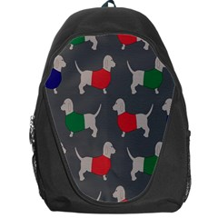 Cute Dachshund Dogs Wearing Jumpers Wallpaper Pattern Background Backpack Bag by Amaryn4rt