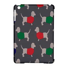 Cute Dachshund Dogs Wearing Jumpers Wallpaper Pattern Background Apple Ipad Mini Hardshell Case (compatible With Smart Cover) by Amaryn4rt