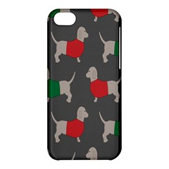Cute Dachshund Dogs Wearing Jumpers Wallpaper Pattern Background Apple Iphone 5c Hardshell Case by Amaryn4rt