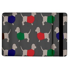 Cute Dachshund Dogs Wearing Jumpers Wallpaper Pattern Background Ipad Air Flip by Amaryn4rt