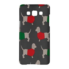 Cute Dachshund Dogs Wearing Jumpers Wallpaper Pattern Background Samsung Galaxy A5 Hardshell Case  by Amaryn4rt