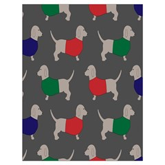 Cute Dachshund Dogs Wearing Jumpers Wallpaper Pattern Background Drawstring Bag (large) by Amaryn4rt