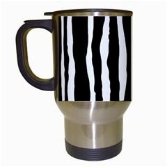 Zebra Background Pattern Travel Mugs (white) by Amaryn4rt