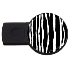 Zebra Background Pattern Usb Flash Drive Round (4 Gb) by Amaryn4rt
